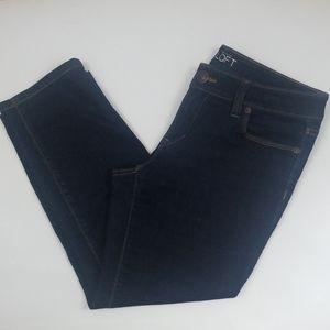 Ann Taylor Loft  dark wash modern crop jeans